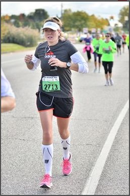 This is me running the Brooksie Way half marathon. Running was really sucking here.
